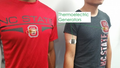 Wearable tech efficiently converts body heat to electricity