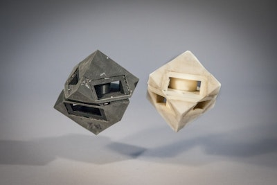 3D printed robots with shock-absorbing skins