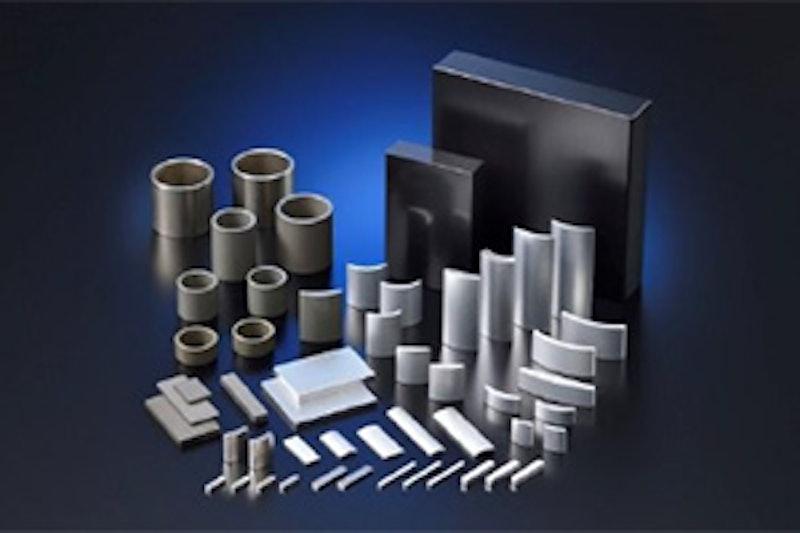 Production capacity for neodymium-iron-boron magnets, ferrite