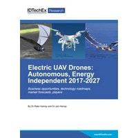 Electric UAV Drones: Autonomous, Energy Independent 2017-2027 - Electronic (1-5 users)