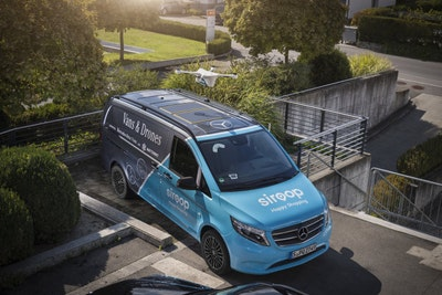 Trial of drone and van delivery service