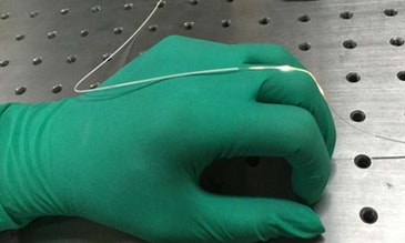 A first for wearable optics, stretchy fiber to capture body motion