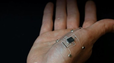 Hybrid 3-D printing method for flexible electronics