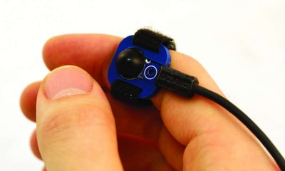 Mobile on-body devices controlled using a tiny sensor