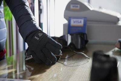 Visa payment-enabled gloves for 2018 olympics