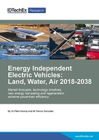 Energy Independent Electric Vehicles: Land, Water, Air 2018-2038
