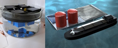 Floating solar fuels rig for seawater electrolysis