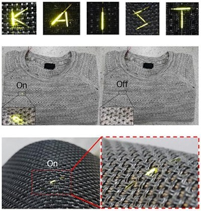 OLED threads for weaving wearable displays