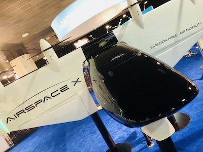 AirSpaceX presents flying electric taxi
