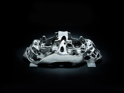 Bugatti 3D prints world's largest functional titanium car component