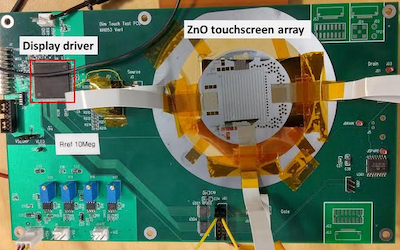 New thin transparent and lightweight touchscreen pressure sensor array