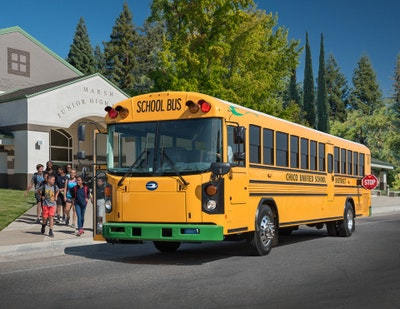Blue Bird electric school buses take to the road and taking orders