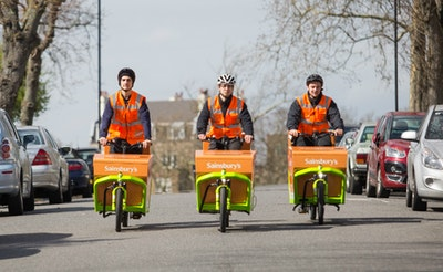 UK's first grocery delivery service by electric cargo bike