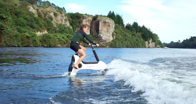 Electric hydrofoil bike