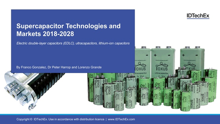 Supercapacitor Technologies and Markets 2018-2028