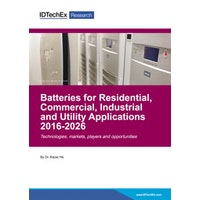 Batteries for Residential, Commercial, Industrial and Utility Applications 2016-2026 - Electronic (1-5 users)
