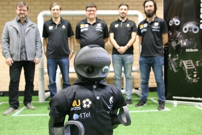 Team of teen soccer robots represent Australia at World Cup