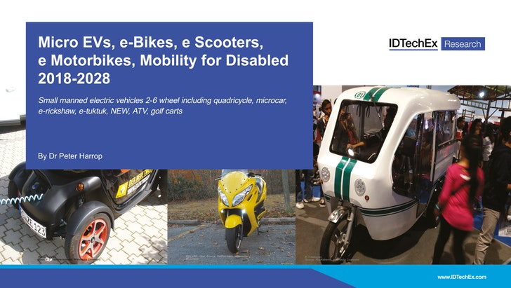 Micro EVs, e-Bikes, e Scooters, e Motorbikes, Mobility for Disabled