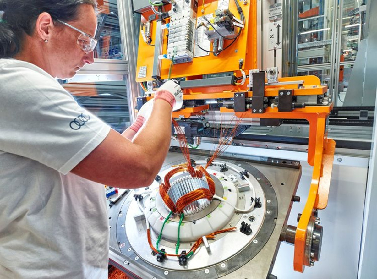 New Era Audi Hungaria Starts Series Production Of Electric Motors Electric Vehicles Research