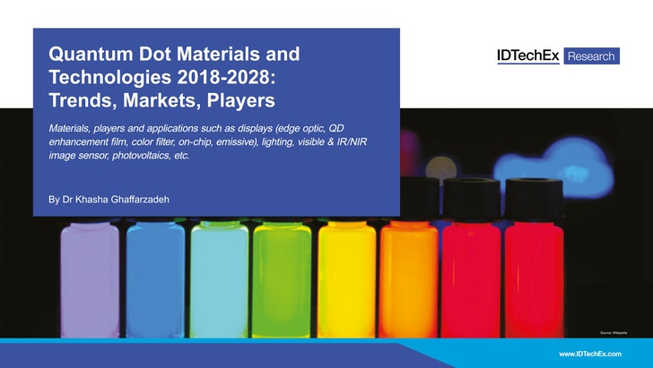 Quantum Dots 2018-2028: Trends, Markets, Players: IDTechEx