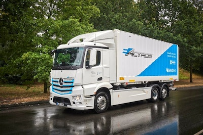 All-electric Mercedes-Benz truck for heavy-duty distribution