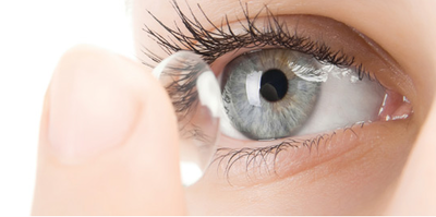 Color-changing contact lens to monitor disease