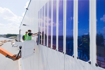 World's largest façade installed with organic photovoltaics