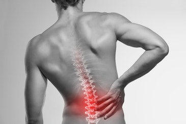 Pain disruption therapy for back pain