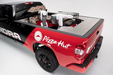 Pizza Hut's pizza making truck