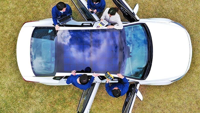 起亚和现代展示太阳能充电系统
