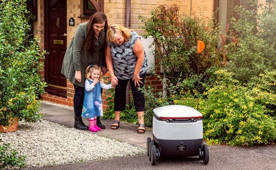 World's first robot package delivery launched publicly