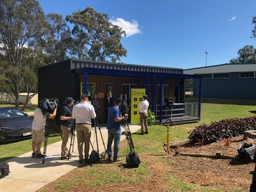 Australia's first off-grid, solar and battery powered classroom