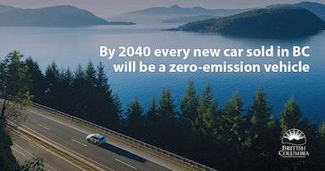 不列颠哥伦比亚省路径有关零排放汽车销售到2040年的100%