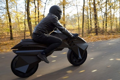 Fully 3D printed and functional electric motorcycle