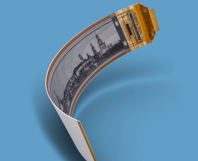 Breakthrough in mass production of flexible plastic displays