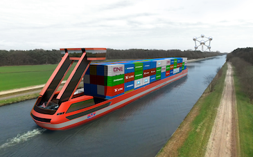 Electric container barges to set sail