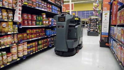 Walmart's robot floor cleaners