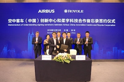 Royole,  Airbus enter partnership on flexible electronic technologies