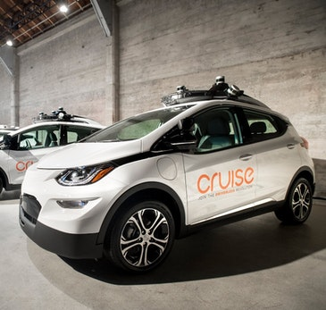 Self driving cars deliver groceries and take out