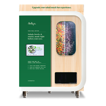 Salad making robot for food on the go