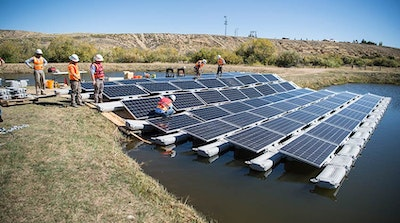 Potential for floating photovoltaic systems
