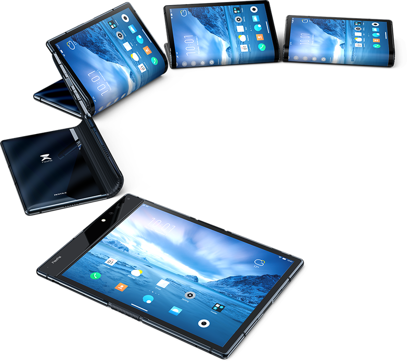 First commercial foldable smartphone with flexible display