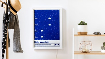 E-paper poster for daily weather updates