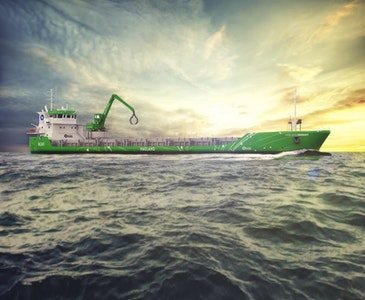 World's first hybrid retrofit for short-sea shipping vessel