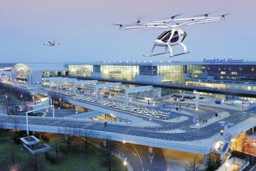 Volocopter and Frankfurt Airport flying taxi infrastructure