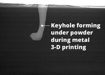 Finding keyholes in metals 3D printing