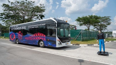 World's first full-size, autonomous electric bus