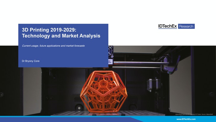 3D Printing 2019-2029: Technology and Market Analysis: IDTechEx