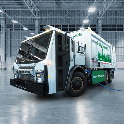 Mack Trucks unveils battery-electric Mack LR Refuse demo model