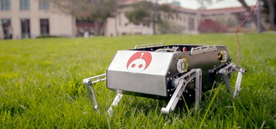 Dog-like robot jumps, flips and trots